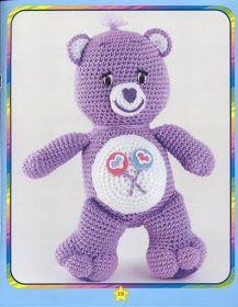 Crochet Toys Ideas All the Care Bears Crochet Patterns Chat Crochet, Crochet Amigurumi, Crochet Teddy, Crochet Bear, Crochet Gifts, Amigurumi Doll, Crochet Animals, Crochet For Kids, Crochet Dolls