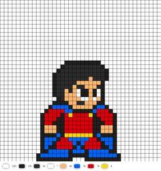 Mon-El from Legion of Superheroes DC Perler Bead Pattern