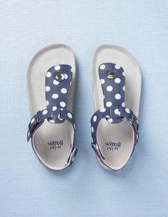 fa96b3db065a37 petites sandales en cuir bleu roi   pois blancs...by Miniboden Baby Girl