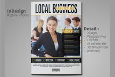 Business Magazine Template by rudiSasori on @creativemarket