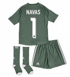 Real Madrid Keeper Keylor Navas 1 Thuis tenue Kids 17-18 Korte Mouw