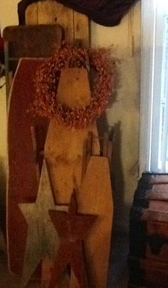 Some of my wooden ironing boards.