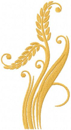 Long Stems wheat free machine embroidery design from Embroideres