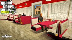 Gta 5 Mods, Treasure Maps, Red Dead Redemption, Restaurant, Graphics, Games, Interior, Youtube, Furniture