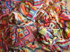 All the crochet blankets by Lucy at Attic24, the colours are so lively and wonderful.
