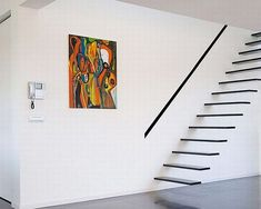 Suspended Style: Floating Staircase Ideas For The Contemporary Home (contemporary? Look at the phone, though...)