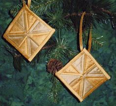 Gold Silk Dupioni Quilted Pinwheel Tree Ornaments by lynndalou, $25.00