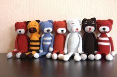 Amineko cats Knit Crochet, Knitting, Toys, Awesome, Animals, Beauty, Templates, Amigurumi, Boss