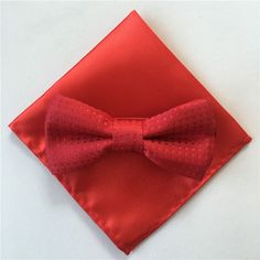Handsome Boys Polka-Dot Bow Tie and Pocket Square Sets