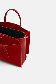 Zara, Handbags, Leather Totes, Clutches, Shoes, Chic, Fashion, Fashion Handbags, Zippers