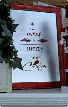 """Have Yourself a Merry Little Christmas"" Antiqued Sign"