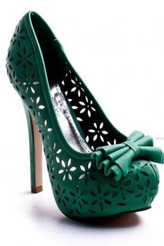I'm not a platform heels girl but I would be if this is what I got to wear! Too cute.