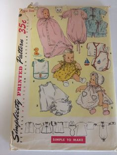 Vintage baby clothes pattern