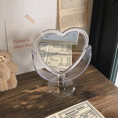 Room Ideas Bedroom, Bedroom Decor, Heart Mirror, Make Up Mirror, Decorate Mirror, My New Room, My Room, Pastel Room, Pastel Decor