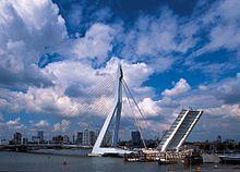 "Pont Erasme ""The Swan"" (1996), Rotterdam Pays Bas"