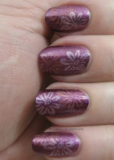 Zoya Nail Polish in Carly stamped with Zoya Rory and Zoya Myrta