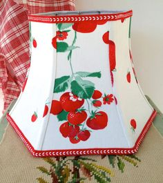 On Sale Strawberry Lamp Shade  Uno Lampshade by lampshadelady