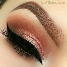 """Urban Decay Naked 3 palette """"Trick"""" on lid. Kat Von D Lady Bird palette """"Cleopatra"""" in crease. Lady Bird palette """"Wölf"""" slightly blended into outer crease  underneath lower lash line."""
