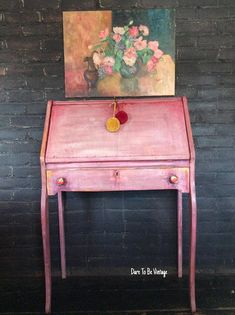 Please contact us prior to purchasing for a more exact shipping quote, this is just an estimate, shipping varies from state to state. Thank you for viewing. Raspberry Float !!! If you are looking for a Boho Chic Style Desk you have found it !!! This vintage desk carries a soft water