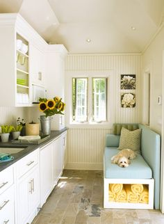 If I had a mudroom, I would like it to be fresh, sunny, and airy-feeling...like this!