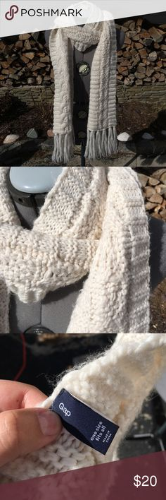 Gap Light Cream Scarf Keep yourself warm in this brand new Scarf! Always open to offers and discounts on bundles! GAP Accessories Scarves & Wraps