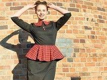 """Kleid """"Miss A"""" Schwarz-Rot Flanell Karo"""