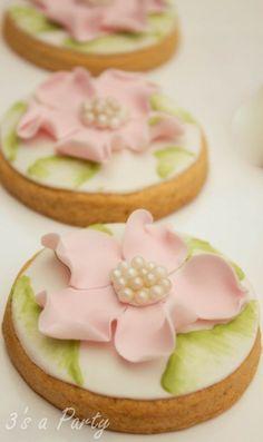 Fondant Flower Cookies