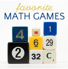 Our favorite math games for kids of all different ages and skill levels. Best math board, dice and card games for home and classroom practice Math Games For Kids, Math Boards, Homeschool Math, Diy Games, Child Day, Learning Through Play, Game 1, Card Games, Classroom