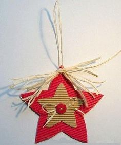 Christmas DIY Crafts for kids Christmas is fast approaching and kids would be very excited. Kids wait all the year so that enjoy Christmas time. And what better way to enjoy the Christmas Star, Christmas Gift Tags, Christmas Crafts For Kids, Christmas Projects, Handmade Christmas, Christmas Tree Ornaments, Holiday Crafts, Christmas Decorations, Star Ornament