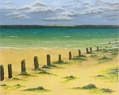 Image of The old pier at low tide  #Acrylic #StIves #Cornwall