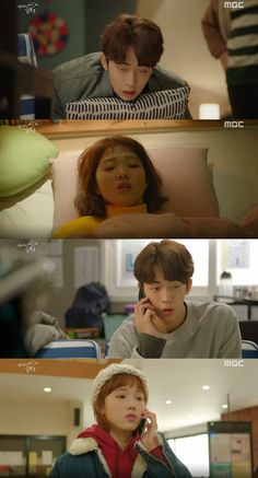 Nam Joo-hyeok finally realized that he likes Lee Seong-kyeong. On the latest episode of the MBC drama 'Weightlifting Fairy Kim Bok-joo', Jeong Joon-hyeok realized that he likes Kim Bok-joo as he cared for her when she was going through difficult times. Mbc Drama, Drama Film, Weighlifting Fairy Kim Bok Joo, Shopping King Louis, Kdrama, Kim Book, Nam Joohyuk, Lee Sung Kyung, Weightlifting Fairy