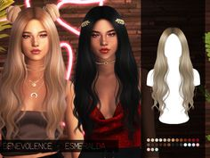 sims 4 cc // custom content hairstyle // The Sims Resource // Benevolence-c's Benevolence - Esmeralda Alpha Edit - Mesh Required Maxis, Los Sims 4 Mods, Sims 4 Game Mods, Sims 4 Mods Clothes, Sims 4 Clothing, The Sims 4 Cabelos, Pelo Sims, Sims 4 Teen, Sims4 Clothes