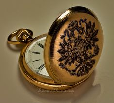 Antique Russian Imperial Presentation Gold Pocket Watch by Pavel Bure (Paul Buhre), circa 1899.