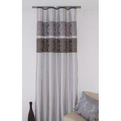 Strieborný záves k prehozu so sivým vzorom - domtextilu. Curtains, Shower, Home Decor, Rain Shower Heads, Blinds, Decoration Home, Room Decor, Showers, Draping