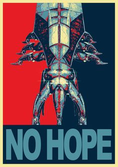 Reaper NO HOPE - Mass Effect Art Print