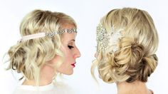 To see step by steps and more photos, visit my blog http://www.twistmepretty.com/2014/10/2-gatsby-hairstyles-halloween.html ‎ Lionesse 4 Part Curler: http://...