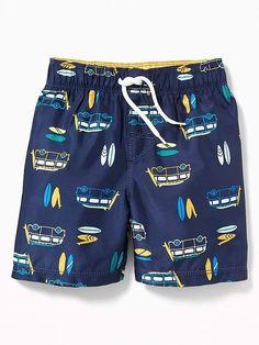 Old Navy Printed Swim Trunks for Toddler Boys Boys Cargo Shorts, Tennis Shorts, Men Shorts, Swim Shorts, Toddler Swimming, Man Swimming, Outfits For Teenage Guys, Boys Swimwear, Kids Pants