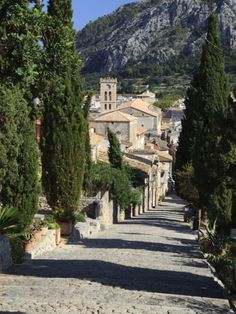 Calvary Steps with View over Old Town, Pollenca (Pollensa), Mallorca