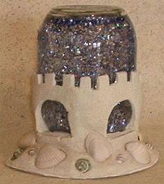 hmmm... may need to make a day two Castle globe shaker... with plastic containers- who would make a sensory jar for kids out of glass?!