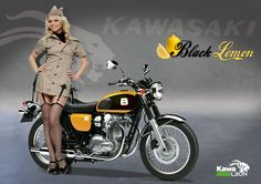 "Kawasaki W800 Pin up Style ""Black Spirit"" By Chico"