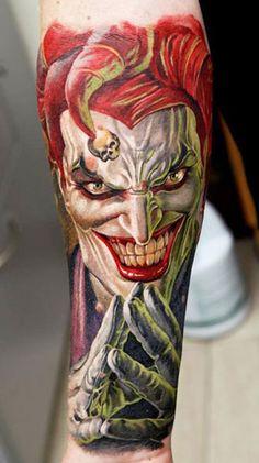 Tattoo Artist - Dmitriy Samohin - joker tattoo | www.worldtattoogallery.com