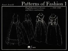 Patterns of Fashion 1 by Janet Arnold Patterns Of Fashion, Pattern Fashion, Fashion Textiles, Costume Patterns, Sewing Patterns, Sewing Ideas, Cloth Patterns, Riding Habit, 18th Century Clothing