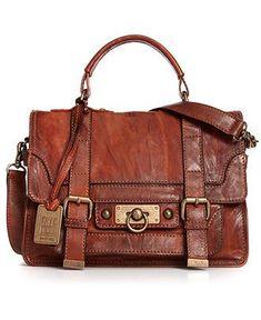 Frye Handbag, Cameron Small Satchel - Handbags & Accessories - Macy's (It's Indiana Jones-ish, love it) Satchel Handbags, Purses And Handbags, Leather Handbags, Leather Bag, Beautiful Handbags, Beautiful Bags, Sac Michael Kors, Casual Chique, Mk Bags
