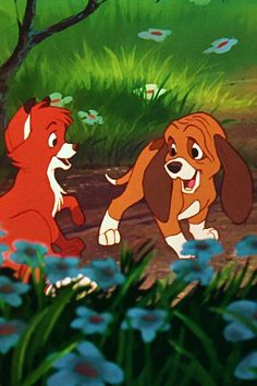 Todd and Copper. It says anima… 30 day Disney challenge. Todd and Copper. Disney Pixar, Disney Dogs, Old Disney, Arte Disney, Disney And Dreamworks, Disney Animation, Disney Magic, Disney Art, Disney Movies