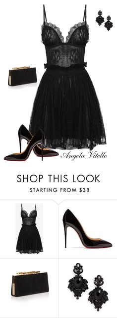 """Untitled #803"" by angela-vitello on Polyvore featuring Alexander McQueen, Christian Louboutin, Jimmy Choo and Tasha"