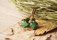Bohemian+Earthy+Natural+Green+Jade+Crystal+Stone+Bead+by+ByLEXY