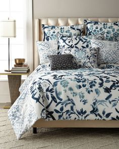 Shop Cellini Queen Duvet and Matching Items from Designers Guild at Horchow, where you'll find new lower shipping on hundreds of home furnishings and gifts. Duvet Cover Design, Bed Linen Design, Bed Design, Luxury Duvet Covers, Luxury Bedding Sets, Designers Guild, Contemporary Bed Linen, Damask Bedding, Nursery Bedding Sets Girl
