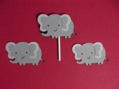 Elephant cupcake toppers. $7.00, via Etsy.