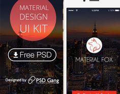 http://redesigncase.com/material-design-mobile-app-ui-kit/