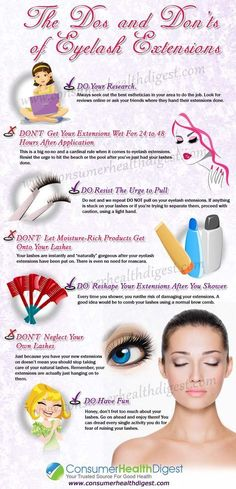 The Dos and Don'ts of Eyelash Extensions https://www.consumerhealthdigest.com/eyelash-care/dos-and-donts-of-eyelash-extensions.html